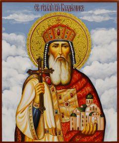 Рукописная икона Владимир Равноапостольный 10 (Размер 17*21 см)