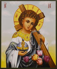Рукописная икона Спаситель Мира
