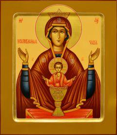 Рукописная икона Неупиваемая Чаша 7 (Размер 27*31 см)
