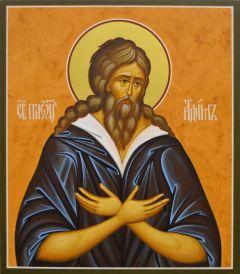 Рукописная икона Святой Адам