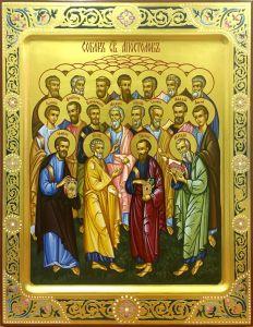 Рукописная икона Собор Апостолов