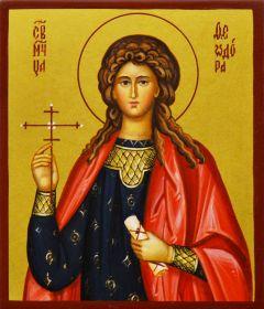 Рукописная икона Феодора Коринфская
