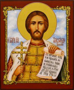 Рукописная икона Александр Невский 25 (Размер 17*21 см)