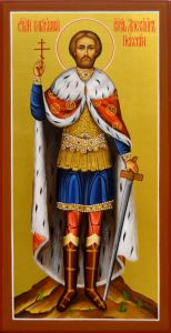 Рукописная икона Александр Невский 28 (Размер 13*25 см)