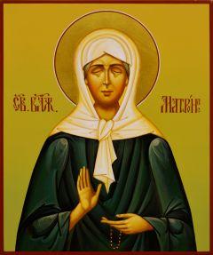 Рукописная икона Матрона Московская 16