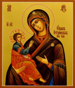 Рукописная икона божией Матери Грузинская
