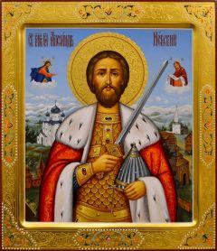Рукописная икона Александр Невский 29 (Размер 27*31 см)