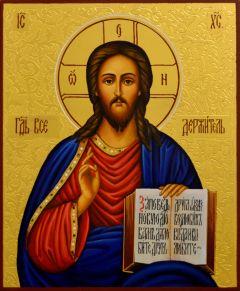 Рукописная икона Спас Вседержитель 23