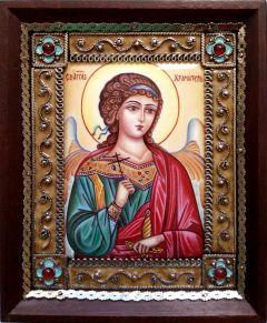 Икона из финифти Ангел Хранитель 75 (Размер 10*12 см)