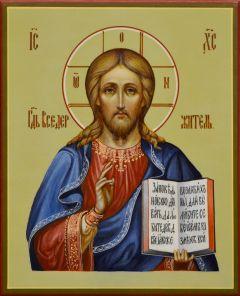 Рукописная икона Спас Вседержитель 43 (Размер 13*16 см)