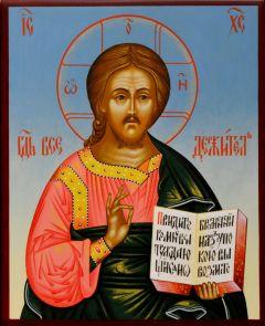 Рукописная икона Спас Вседержитель 44 (Размер 13*16 см)