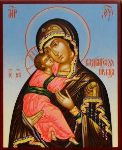 Рукописная Владимирская икона 20 (Размер 13*16 см)