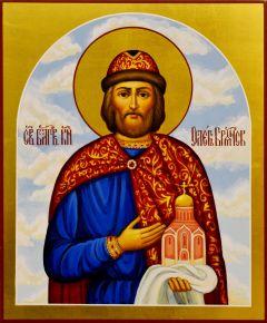 Рукописная икона Олег Брянский 6 (Размер 17*21 см)