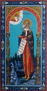 Рукописная икона Илия Пророк 6