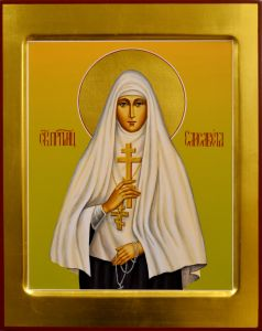 Рукописная икона Елизавета Федоровна 5