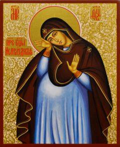 Рукописная икона Непраздная с узором 4 (Размер: 13*16 см)