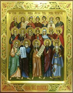 Рукописная икона Собор Святых Пророков