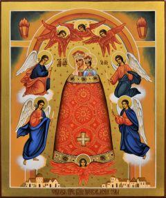 Рукописная икона Прибавление Ума 6