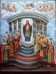 Рукописная икона София Премудрость Божия 3