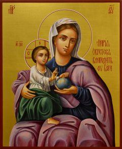 Рукописная икона Мария Обрете Благодать у Бога