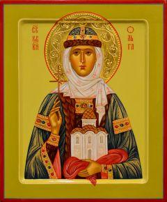 Рукописная икона Ольга равноапостольная 14 (Размер 21*25 см)
