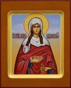 Рукописная икона Марфа Вифанская
