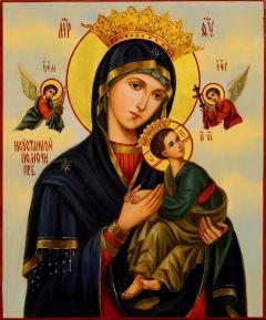 Рукописная икона Неустанной Помощи масло