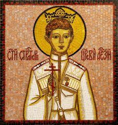 Икона из мозаики царевич Алексий