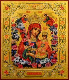 Рукописная икона Неувядаемый Цвет 44 (Размер 21*25 см)