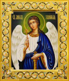Рукописная икона Ангел Хранитель 70 (Размер 27*31 см)