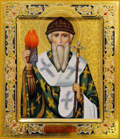Рукописная икона Спиридон Тримифунтский 20 (Размер 27*31 см)