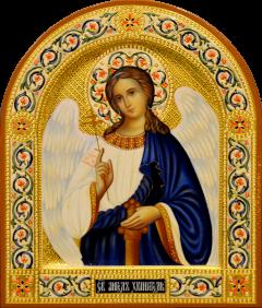 Рукописная икона Ангел Хранитель 79 (Размер 22*26 см)