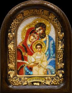 Икона из бисера Святое семейство