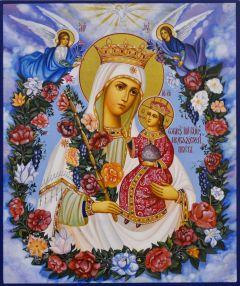 Рукописная икона Неувядаемый Цвет 45