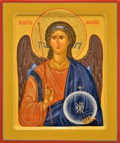 Рукописная икона Архангел Михаил 22 (Размер 21*25 см)