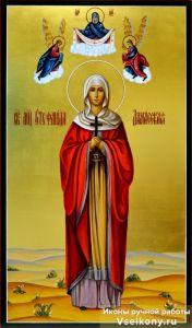 Рукописная икона Стефанида Дамасская 2