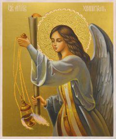 Рукописная икона Ангел Хранитель с кадилом