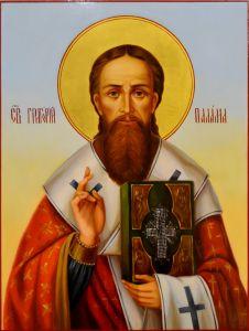 Рукописная икона Григорий Палама масло