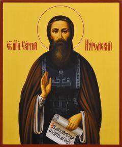 Рукописная икона Сергий Нуромский