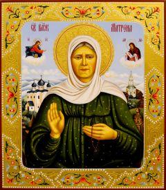 Рукописная икона Матрона Московская 18