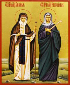 Рукописная икона Гаиания и Рипсимия