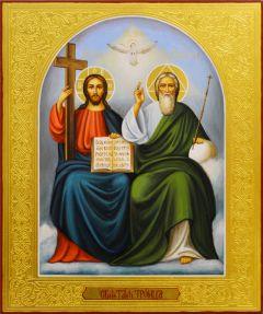 Рукописная икона Новозаветная Троица 3