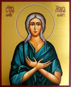 Рукописная икона Мария Египетская