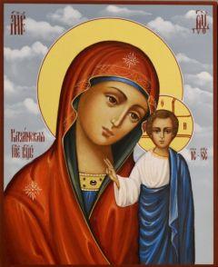 Рукописная икона Казанская 52