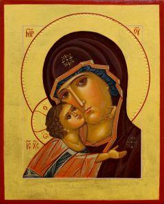 Рукописная икона Игоревская натуральные пигменты 4 (Размер 14*18 см)