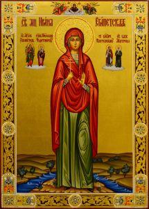 Рукописная икона Ирина Египетская