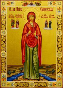 Рукописная икона Ирина Египетская 2