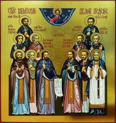 Рукописная икона Собор Павлопосадских мучеников
