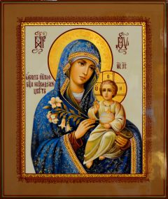 Рукописная икона Неувядаемый Цвет 47 (Размер 21*25 см)