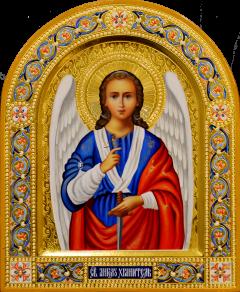 Рукописная икона Ангел Хранитель 90 (Размер 22*26 см)
